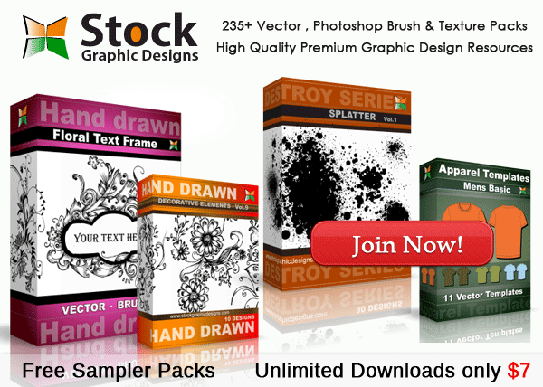 Vector & Brush Packs - Unlimited Downloads
